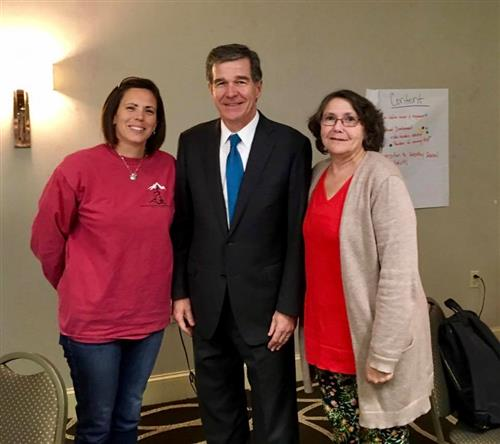 Heather Best Gov. Roy Cooper and Lisa Williams at the NC Healthy Schools Summit
