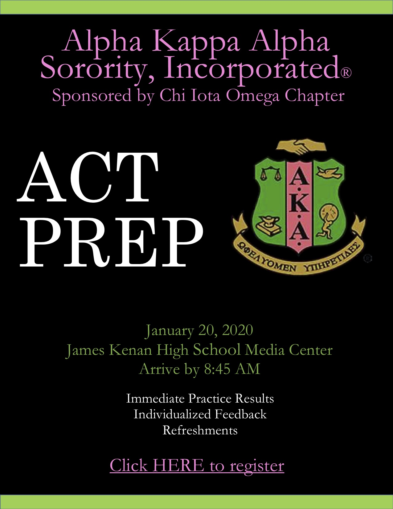 ACT Prep Session Coming to JKHS