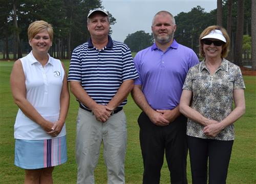 DCS Golf Team for Beulaville Chamber of Commerce stands proudly before teeing off