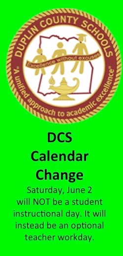 DCS Calendar Change Saturday, June 2 will not be a student instructional day.