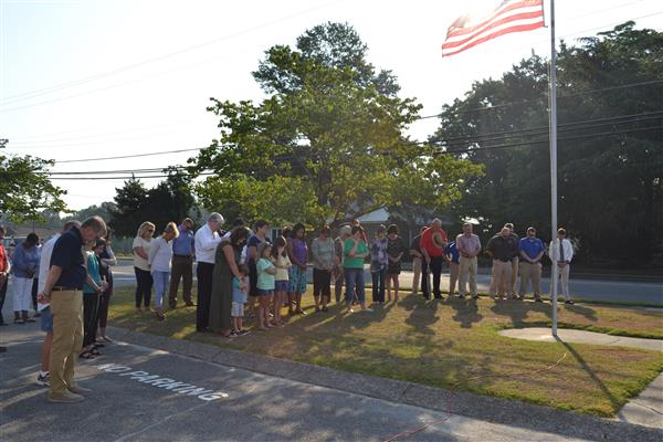 Faith Based-Leaders hold prayer service at the Flagpole