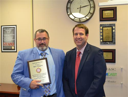 Board of Education Congratulates Dr. Ben Thigpen In New Role As Jones County Superintendent