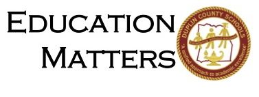 The Education Matters logo has the words Education Matters and is accompanied by the DCS seal