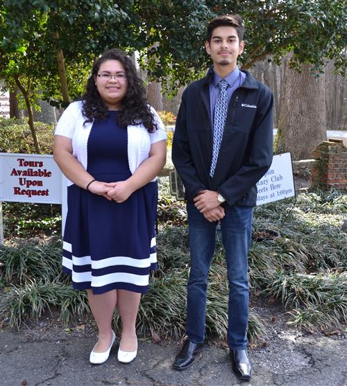 Sofia Sosa and Daniel Alvarez were recognized by the Duplin Rotary as the Students of the Month