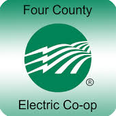 The Four County EMC Logo is green and white