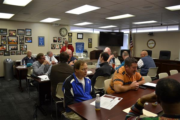 Pastors from around Duplin County meet at the O.P. Johnson Building