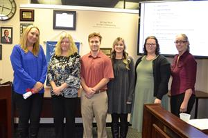 Horace Mann representatives present grants