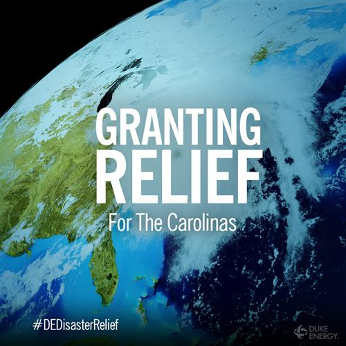 Duke Energy Granting Relief for the Carolinas