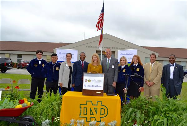 First Lady Kristin Cooper Visits North Duplin Jr/Sr High School to Award Garden Grant