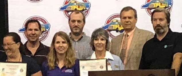 The NCPTA awards Duplin County Schools for School Bus Safety Inspection