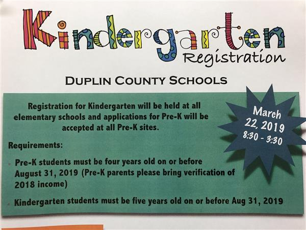 Kindergarten Registration is March 22