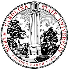 The NCSU logo includes the campus landmark, the belltower