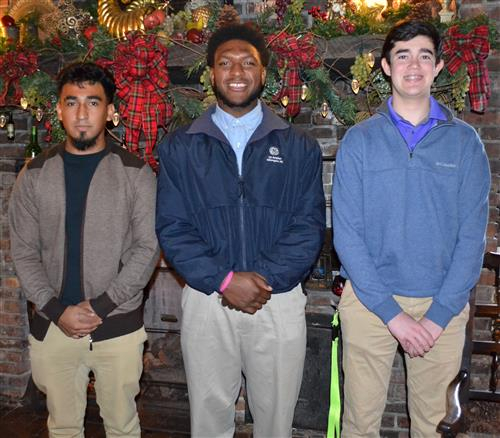 Duplin Rotary Students of the Month are Juan Jaimes, Dorian Pickett, and Zackery Teachey