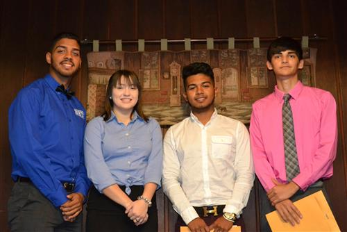Eliel Aguirre, Diego Benitez, Kimberly Lugo, and Juan Stiles are the Students of the Month