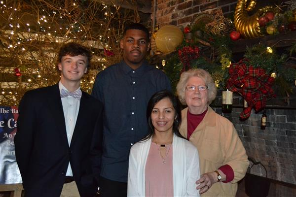 Stencil Bowles, Xavion Murphy, and Joanna Flores are Rotary Students of the Month for January