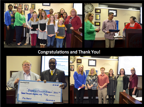 Several exciting recognitions occurred during the last Board of Education meeting.
