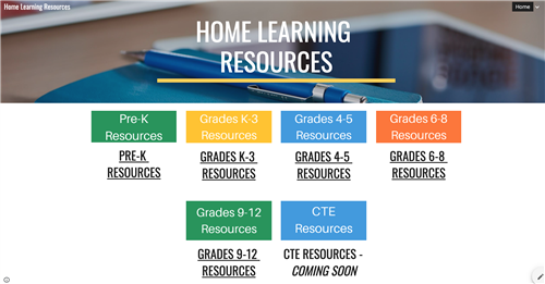 Home Learning Resources site image