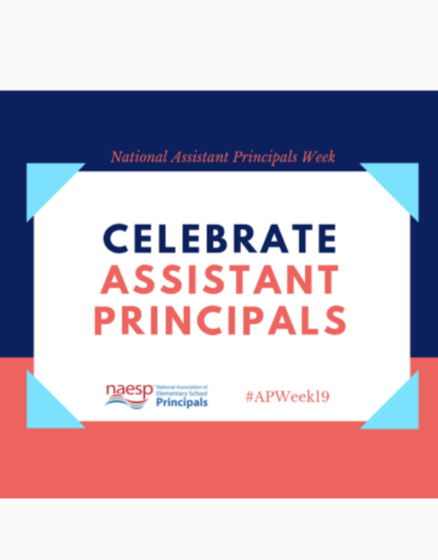 Graphic Stating, Celebrate Assistant Principals