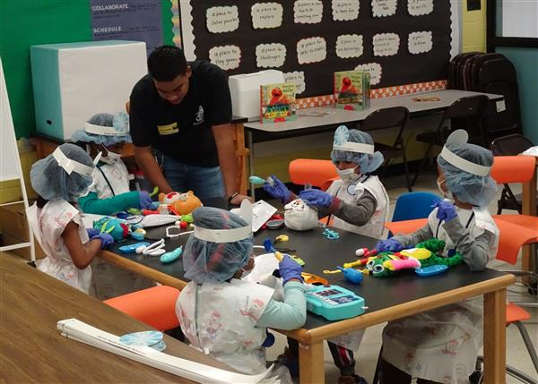 Duplin Health Science Academy Transforms WALE Media Center Into A Teddy Bear Hospital