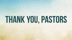 The words Thank you Pastors!