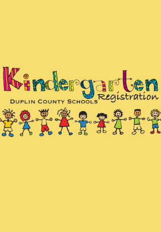 Kindergarten Registration with Kids holding hands