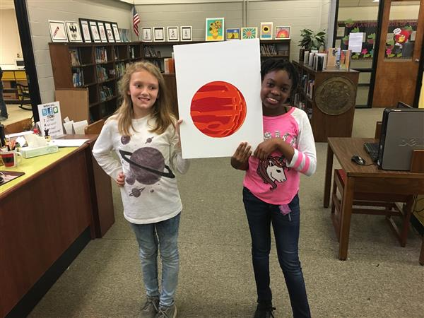 Mrs. Hardy's third graders are making Solar System models in the Maker Space.