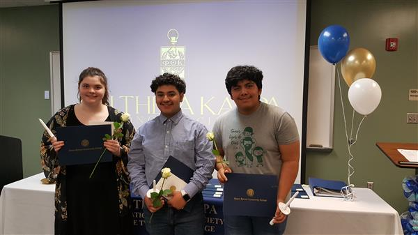 DECHS Students Inducted into Phi Theta Kappa International Honor Society