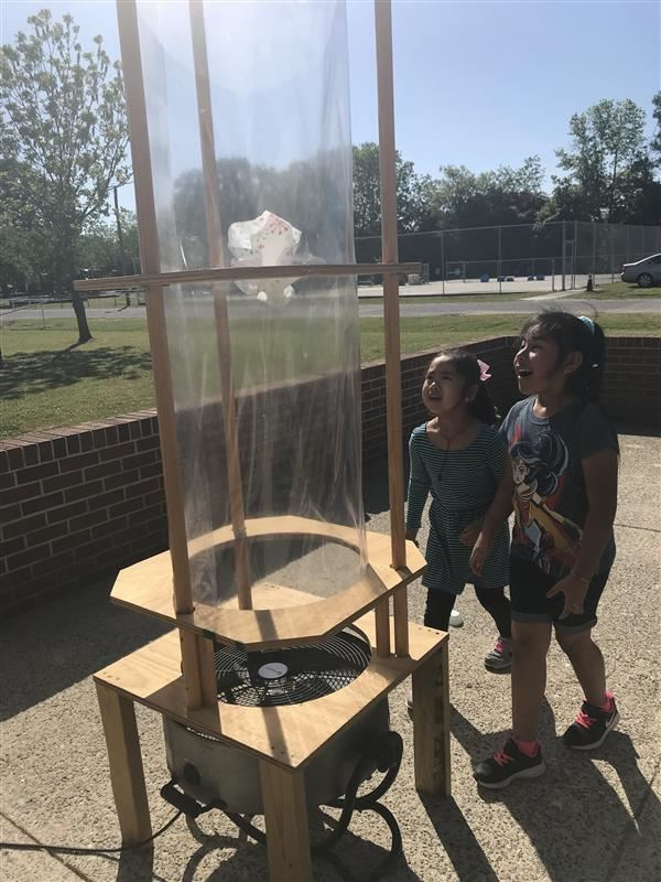 NDE Kindergarten Students Explore STEM with Wind Tunnel