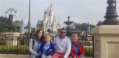 Mrs. Jackson's family includes Mr. Camron, Luke, and Jace B.  We love to visit Walt Disney World!