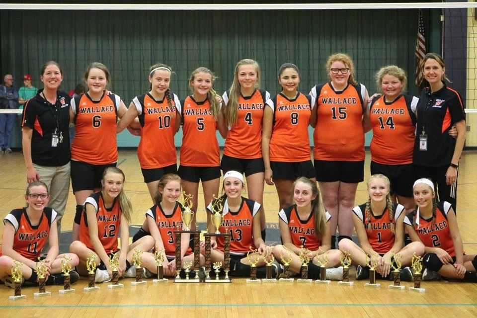 Wallace Volleyball Team wins Duplin County Middle School Tournament Championship! The team finished the season with an overall 15-2 record.  Team members include Madison Davis, Mary Hadden Braswell, Taylor Herring, Bailey Gatton, Laura Beth Russ, Cadence