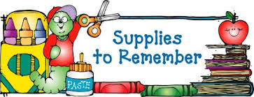 Warsaw Elementary School Supply List (2019 - 2020)